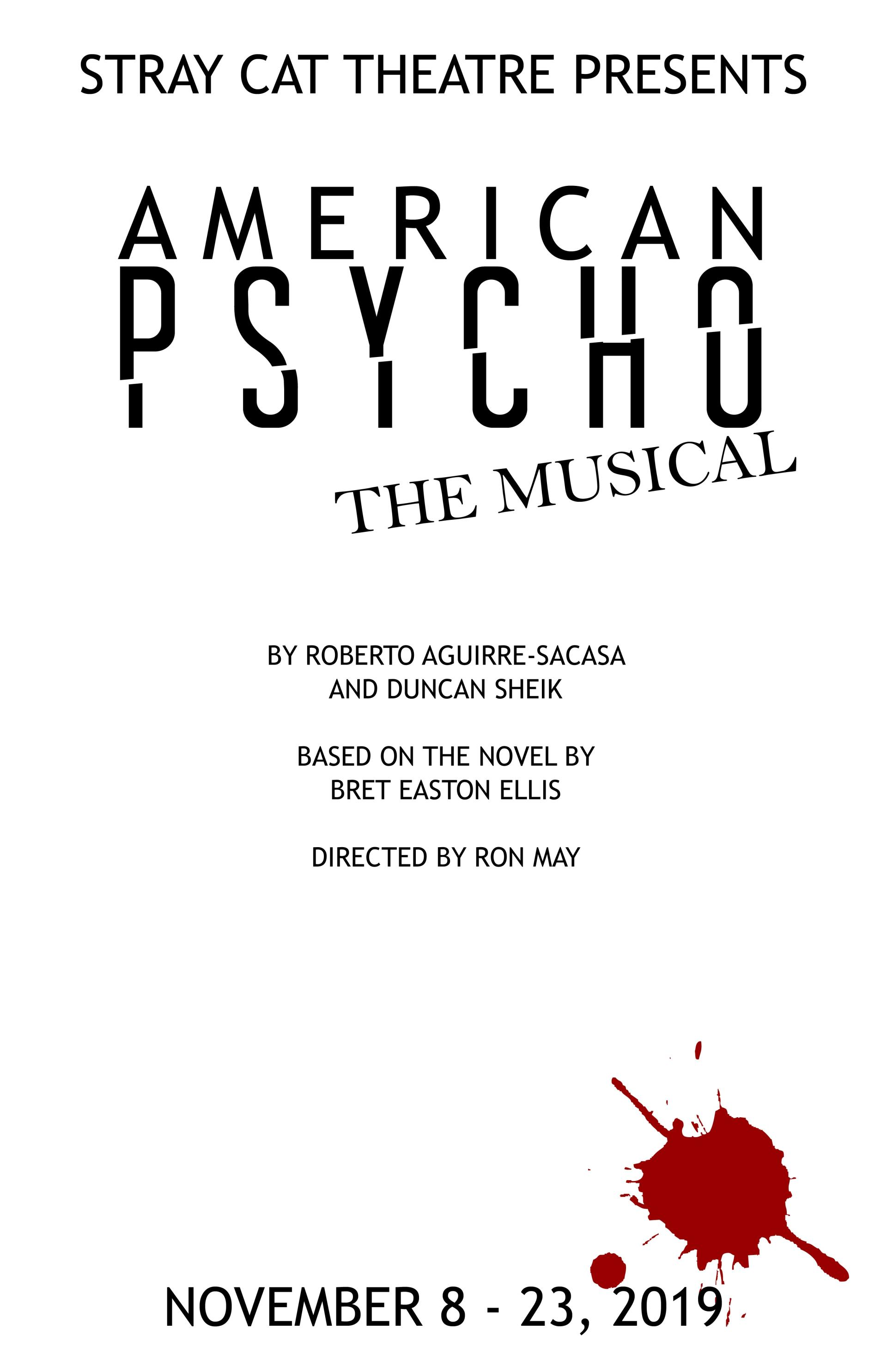American Psycho the Musical poster FINAL